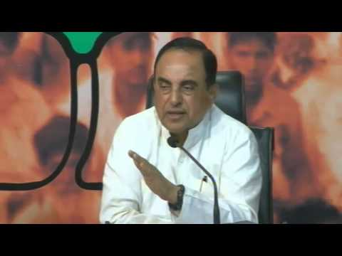 LIVE :: Dr. Subramanian Swamy Press Conference on Indian Economy : 21.09.2013