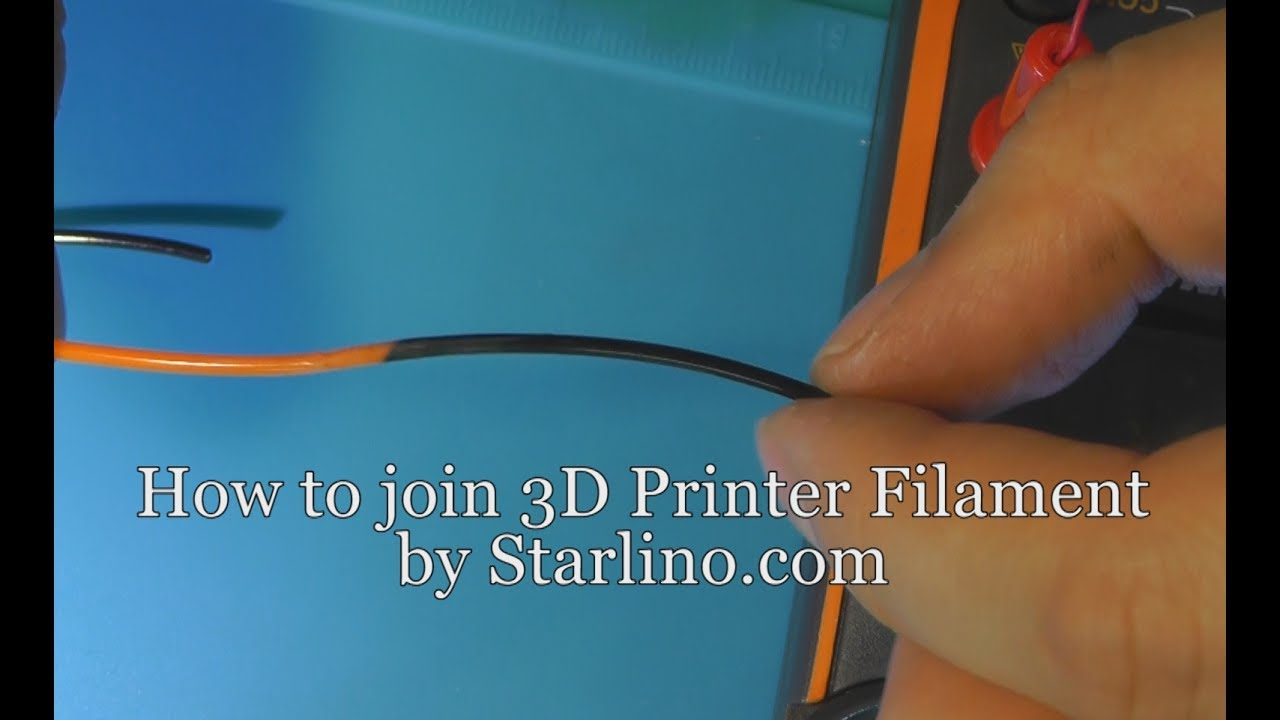How to join 3D Printing Filament (EE way of doing it) - YouTube