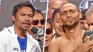 FINAL WORDS!! Manny Pacquiao vs. Keith Thurman after Weigh-In | Las Vegas