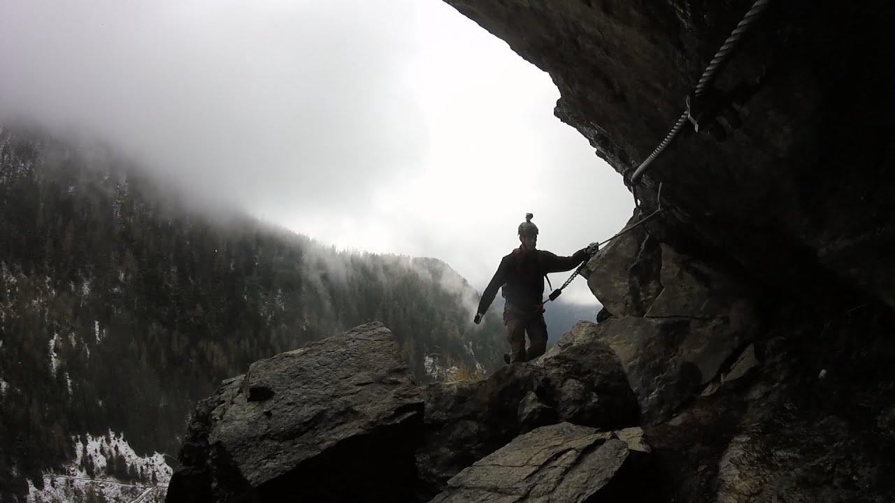 Klettersteig Umhausen : Stuibenfall klettersteig beim wasserfall im umhausen oetztal tirol
