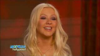 Cam Gigandets Cookie Cover Up In Burlesque (Access Hollywood interview)