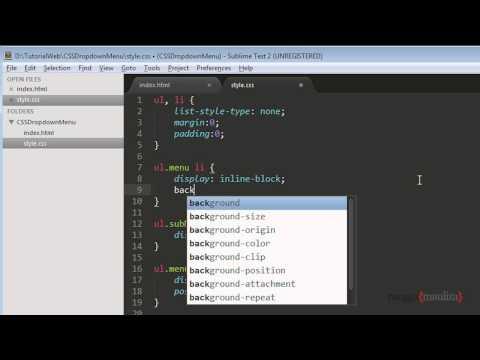 Tutorial HTML/CSS: Membuat Dropdown Menu