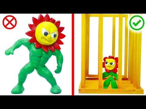 FLOWER PLANT GERMINATION GROWING 💖 Superhero Play Doh Cartoons Animation