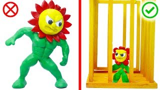FLOWER PLANT GERMINATION GROWING  Superhero Play Doh Cartoons Animation