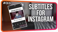 How to make Video Subtitles for Instagram