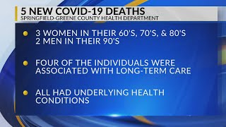 Greene county's five new covid-19 deaths