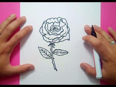 Como dibujar una rosa paso a paso 11 how to draw a rose - Como secar una rosa ...
