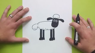 Como dibujar a La oveja Shaun paso a paso - La oveja Shaun | How to draw Shaun the Sheep