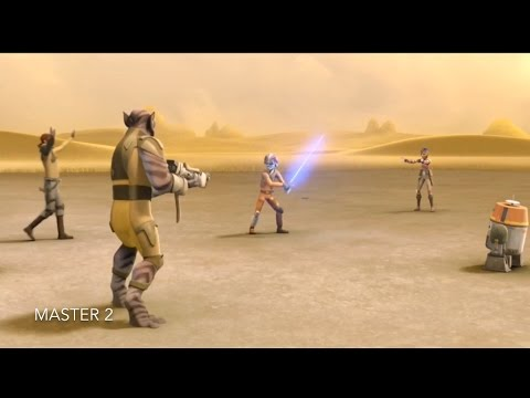 [Ezra's Lightsaber Training & his First Vision] Star Wars Rebels Season 1 Episode 12 [HD]