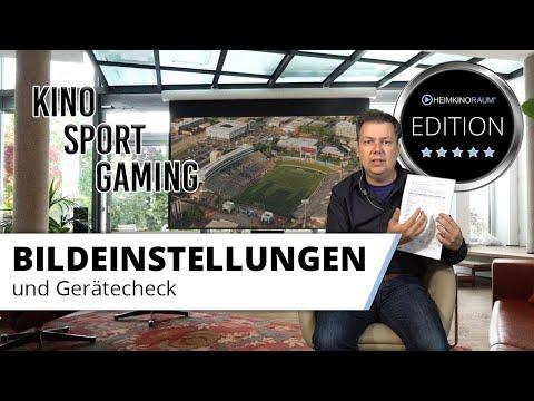 Beamer Bildeinstellungen für Kino, Sport und Gaming plus Gerätecheck - Die HEIMKINORAUM Edition
