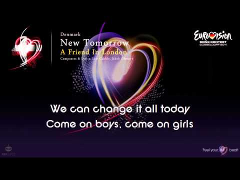 "A Friend In London - ""New Tomorrow"" (Denmark) - [Karaoke version]"