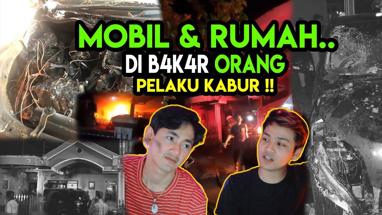TRAGEDI RUMAH DAN MOBIL DI BAK4R !! PELAKU LANGSUNG KABUR !!