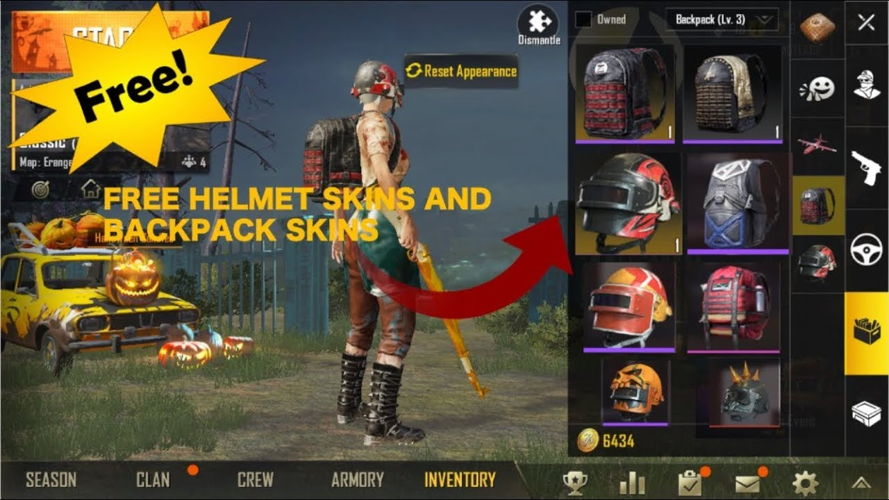 How Get Free Helmet And Backpack Skins In Pubg Mobile Win A Free Royal Pass