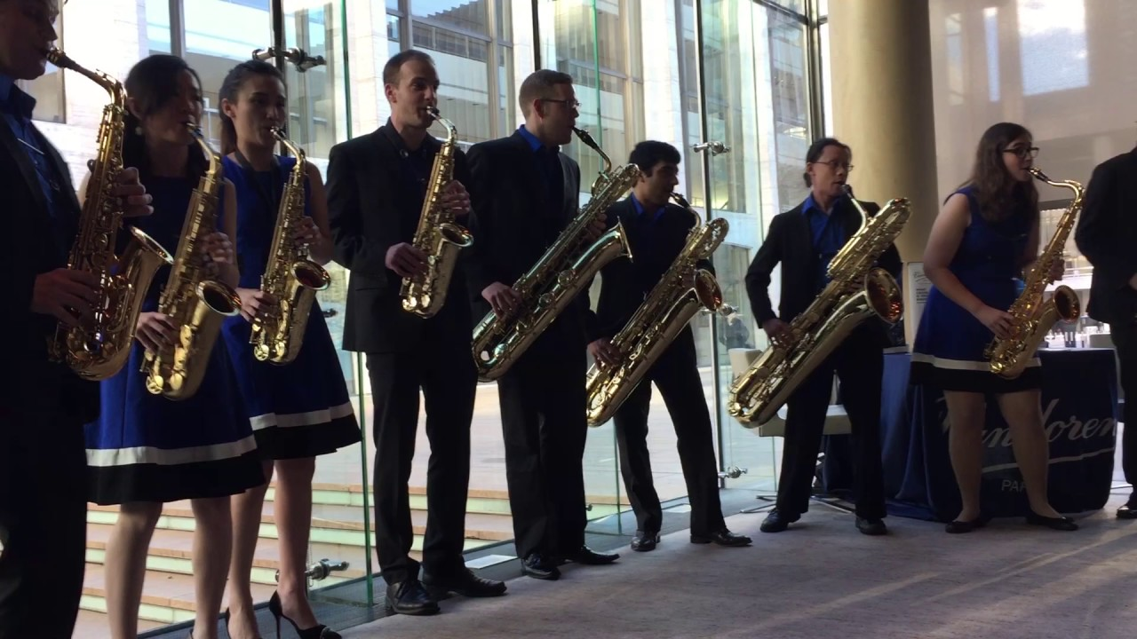 Eastman Saxophone Project (E.S.P) Performs at Vandoren Holiday Party