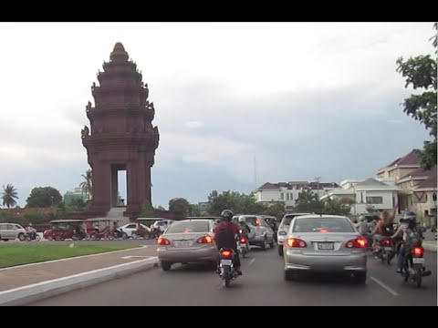 Cambodia Phnom Penh city Independence monument and around town