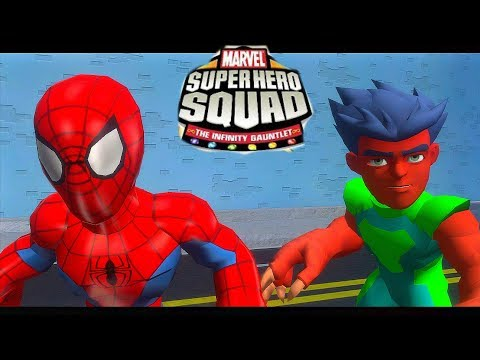 Spider-Man (Josh Keaton) and Reptil vs Abomination - Super Hero Squad The Infinity Gauntlet