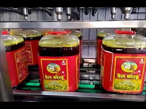 Automatic Cooking Oil, Mustard Oil, Edible Oil Jar Filling Capping Machine