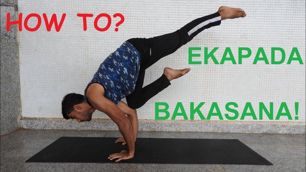 How to EKA PADA BAKASANA? ONE LEG CROW POSE Tutorial ...