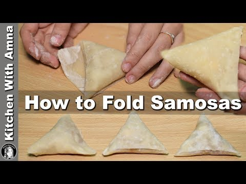 How To Fold Samosa Perfectly - Homemade Samosa Patti Recipe - Kitchen With Amna