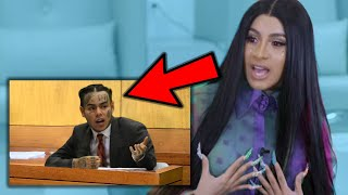 Cardi B Reacts To 6ix9ine Snitching On Her In Court...