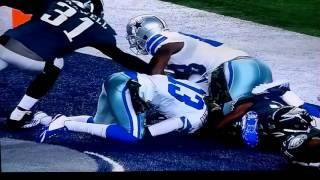 Dez Bryant jump ball touchdown pass from M. Castle