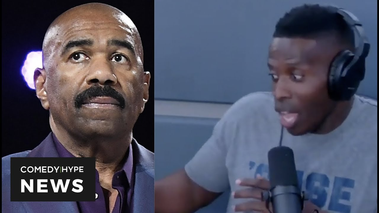 "Steve Harvey Responds To Godfrey's Impression Of Him: ""..When I See You.. I'm Slappin"