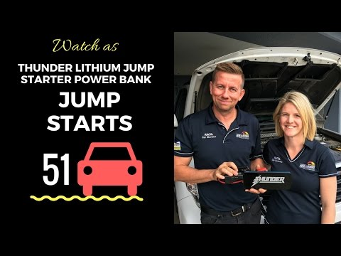 Product Test: THUNDER Lithium Jump Starter Power Bank Jump Starts 51 4WD's
