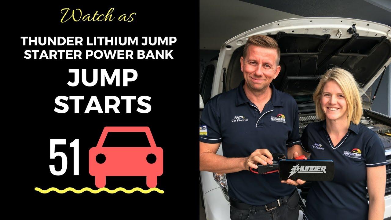product test thunder lithium jump starter power bank jump. Black Bedroom Furniture Sets. Home Design Ideas