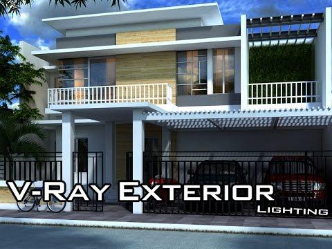 vray lighting exterior tutorial in maya youtube