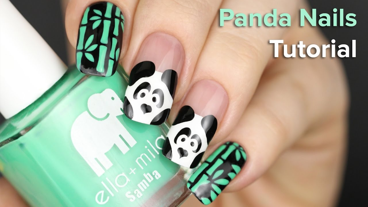 Panda and bamboo nails diy nail art tutorial youtube panda and bamboo nails diy nail art tutorial prinsesfo Gallery