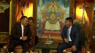 Встреча главы Тувы с президентом Монголии