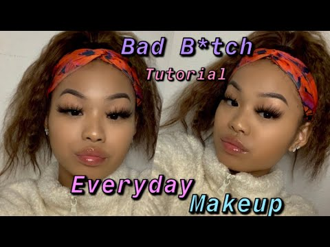 HOW TO LOOK LIKE A BAD B*TCH WHILE SICK!(EVERYDAY MAKEUP ROUTINE)