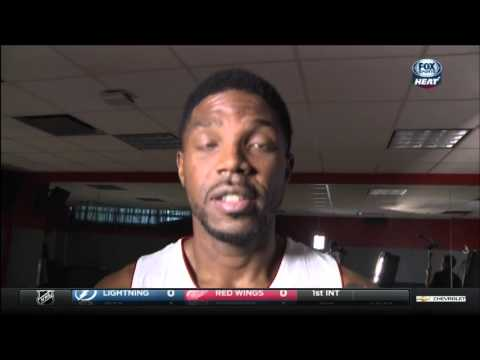 """September 28, 2015 - Fox Sports Sun - Udonis Haslem in """"The UD Show"""" during Miami Heat Media Day"""