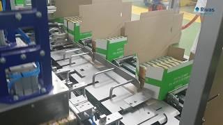 Video: Encajado automática Wrap Around // Wrap Around case packer machine