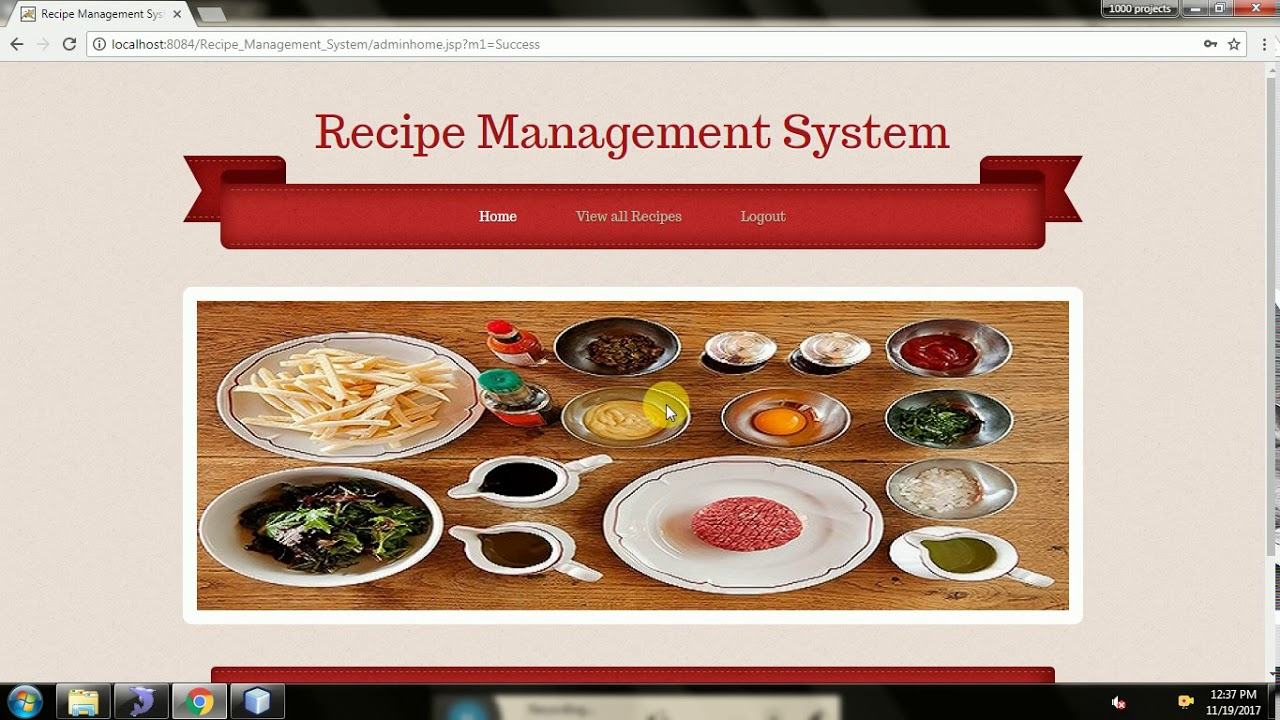 Recipe management system java project youtube recipe management system java project forumfinder Choice Image