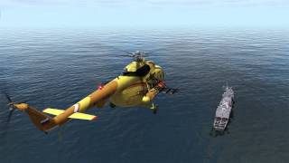 DCS МИ 8 autorotation to the frigate Oliver H. Perry