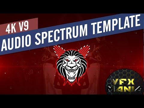 Audio spectrum template 4k vfx mania v91 free after effects templates maxwellsz