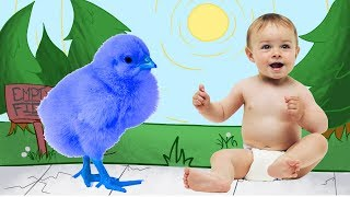 Learn Colors With Colorful Chicks, Learn Animals Name For Kids Nursery Rhymes Song For Children Baby