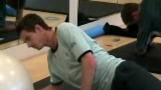 Core excercise with Andy Murray