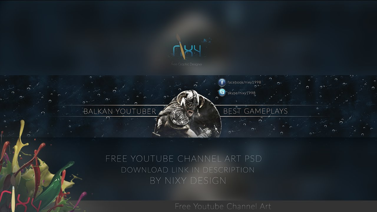 Youtube Gaming Channel Art  Download Free Psd - Youtube-5194
