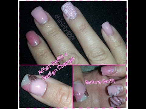 Acrylic Nails Refill Design Change
