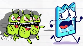 Max Downloads The Wrong App - Pencilanimation Short Animated Film