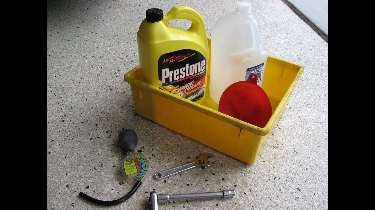 Ford Explorer Radiator Coolant Change Antifreeze Service By Froggy Youtube