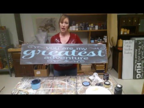 How To Paint Wood Signs Youtube