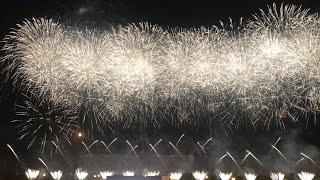 Россия (4К) Международный фестиваль фейерверков в Москве Братеевский каскадный парк