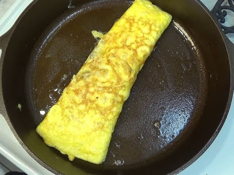 Easy Omelette in a Cast Iron Skillet