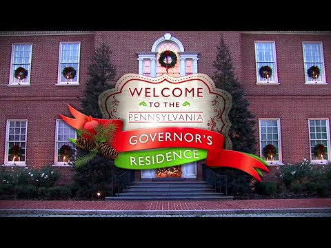 Holiday decorations at the Pennsylvania Governor's Residence (December 2015)