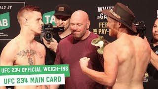 UFC 234 Official Weigh-Ins: Main Card