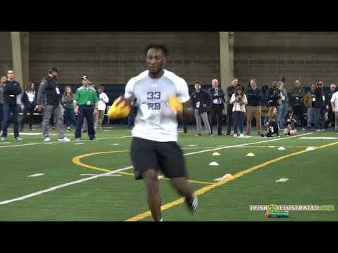 Notre Dame Pro Day Workout: Josh Adams