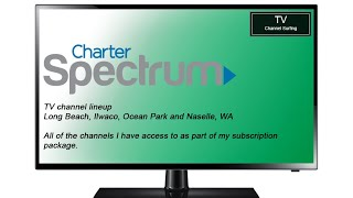 TV Channel Lineup: Charter Spectrum, Long Beach, WA (Subbed Channels)